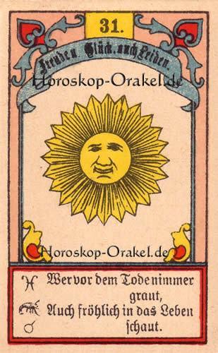 Die Sonne im Waage Tageshoroskop heute